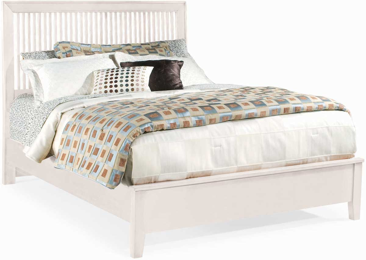 American Drew Sterling Pointe Slat Bed White