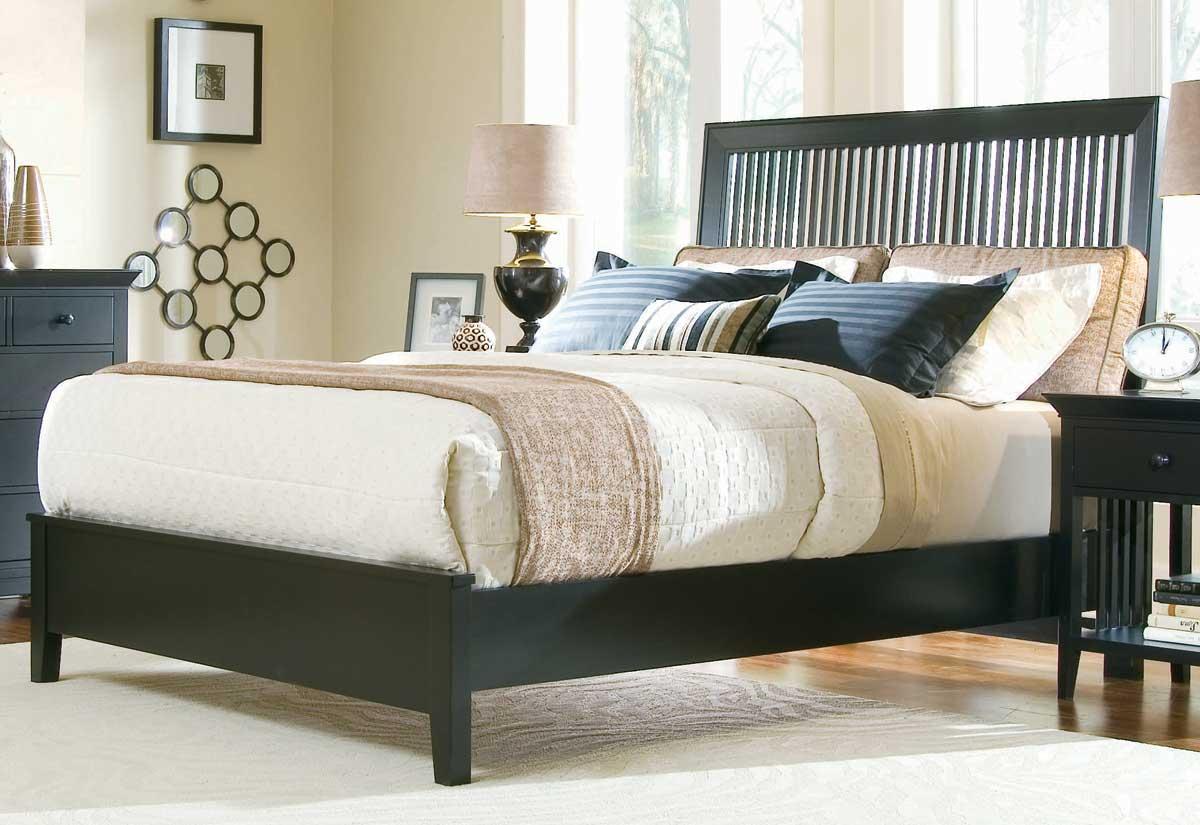 American Drew Sterling Pointe Slat Bed Black