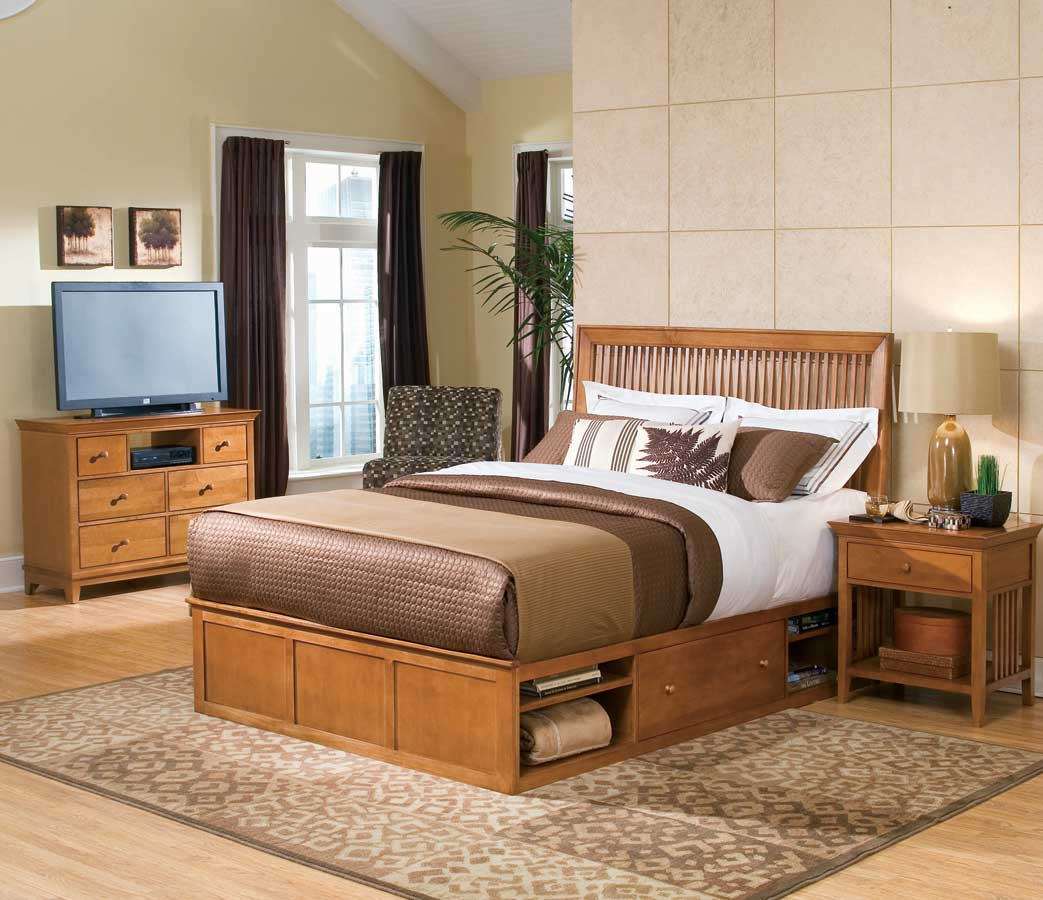 American Drew Sterling Pointe Underbed Storage Collection Maple