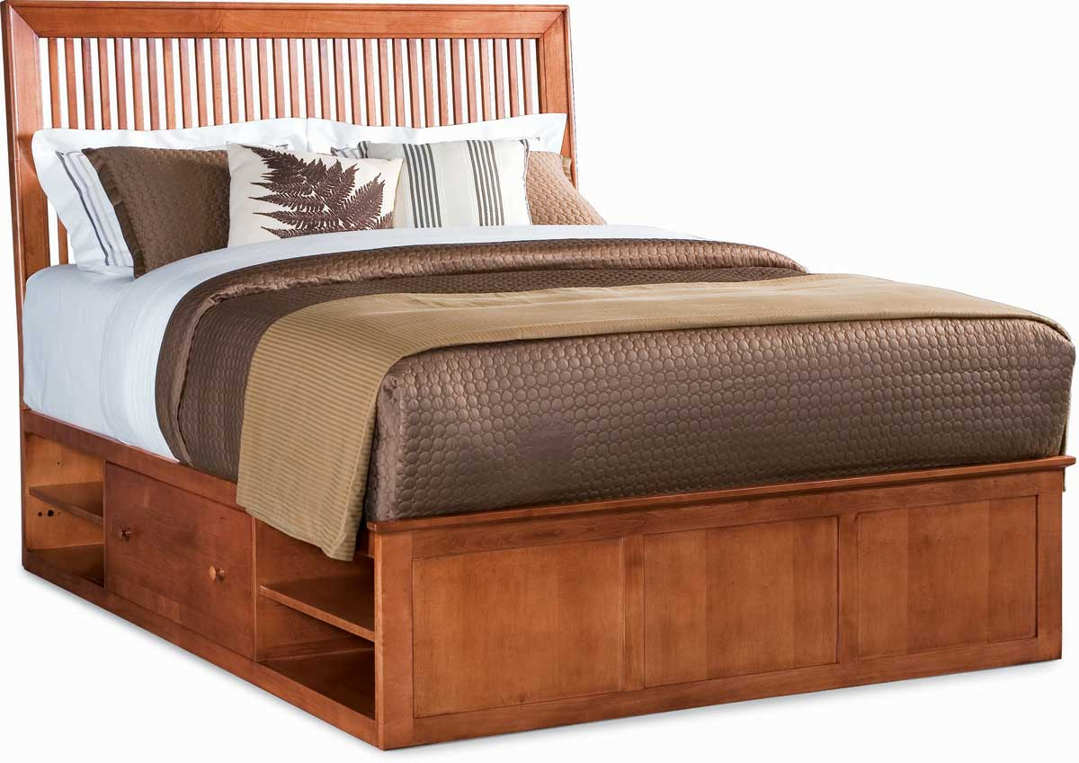 American Drew Sterling Pointe Underbed Storage Platform Bed Cherry