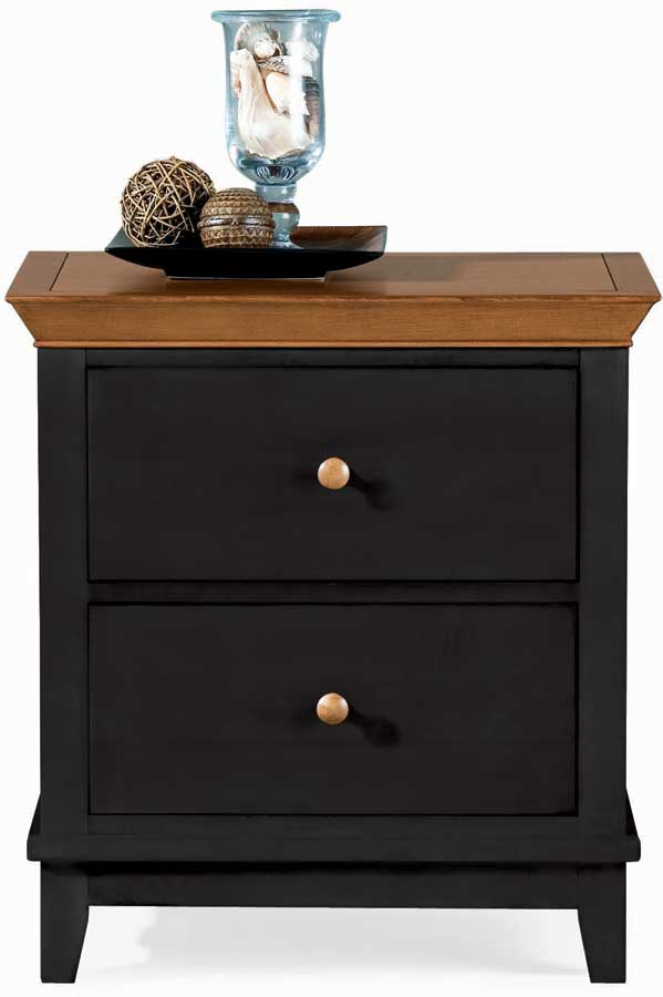 American Drew Sterling Pointe 2 Drawer Night Stand Black Maple