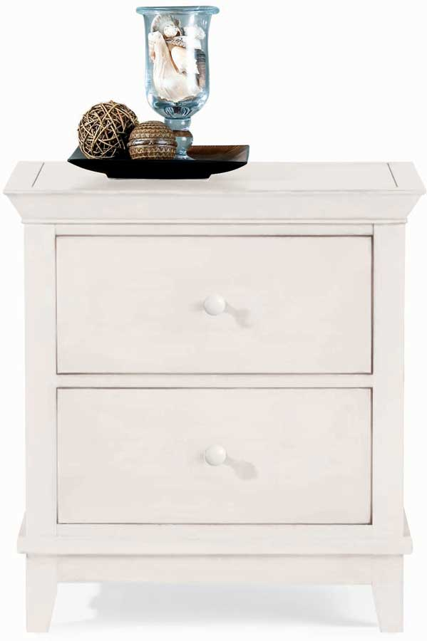 American Drew Sterling Pointe 2 Drawer Night Stand White
