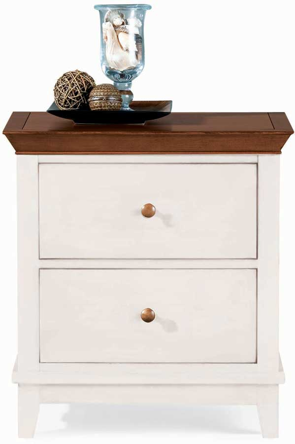 American Drew Sterling Pointe 2 Drawer Night Stand White Cherry
