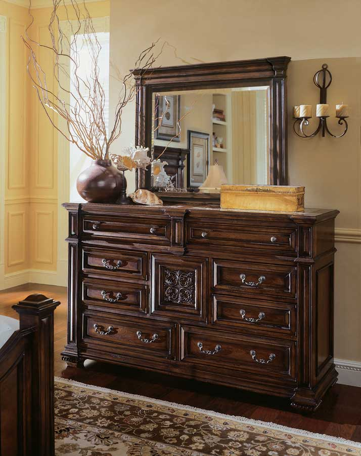 American Drew Marbella Dressing Chest with Stone Inserts