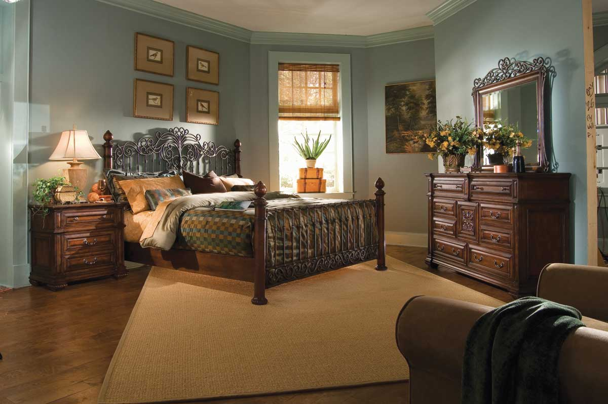 American Drew Marbella Metal Wood Bedroom Collection