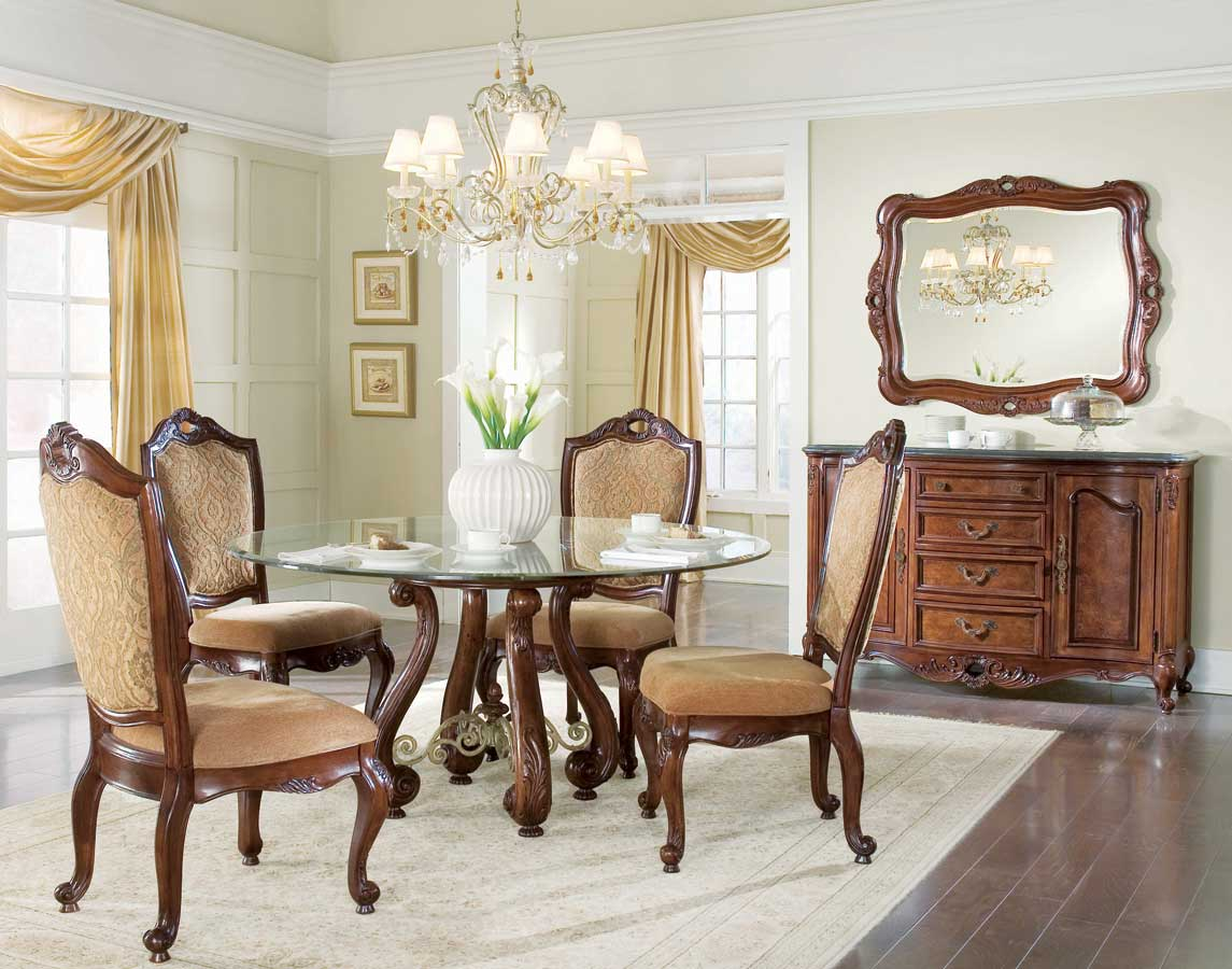 American Drew Bordeaux Round Table Dining Collection