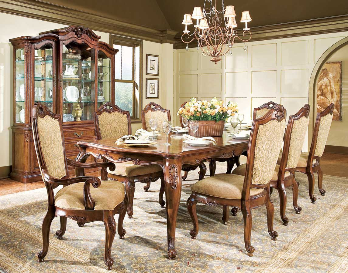 American Drew Bordeaux Leg Table Dining Collection