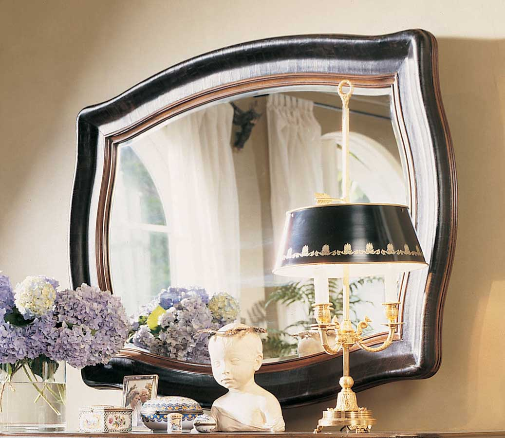 American Drew Bob Mackie Home Classics Leather Landscape Mirror