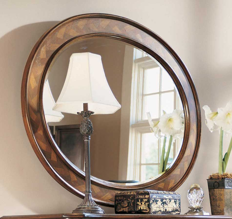 American Drew Bob Mackie Home Classics Braided Oval Mirror 581 040 At