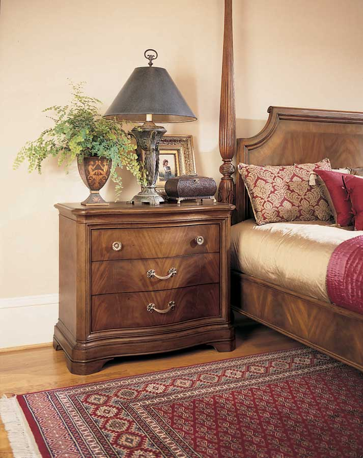 American Drew Bob Mackie Home Classics Sleigh Leather Bedroom Collection B581 304r At