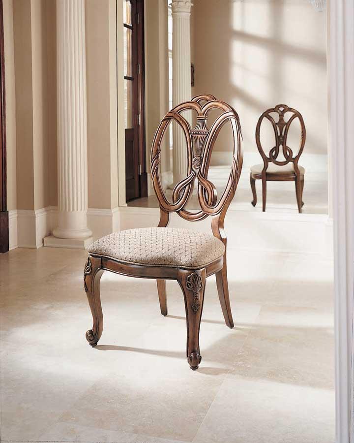 American Drew Bob Mackie Home Classics Oval Splat Back Side Chair