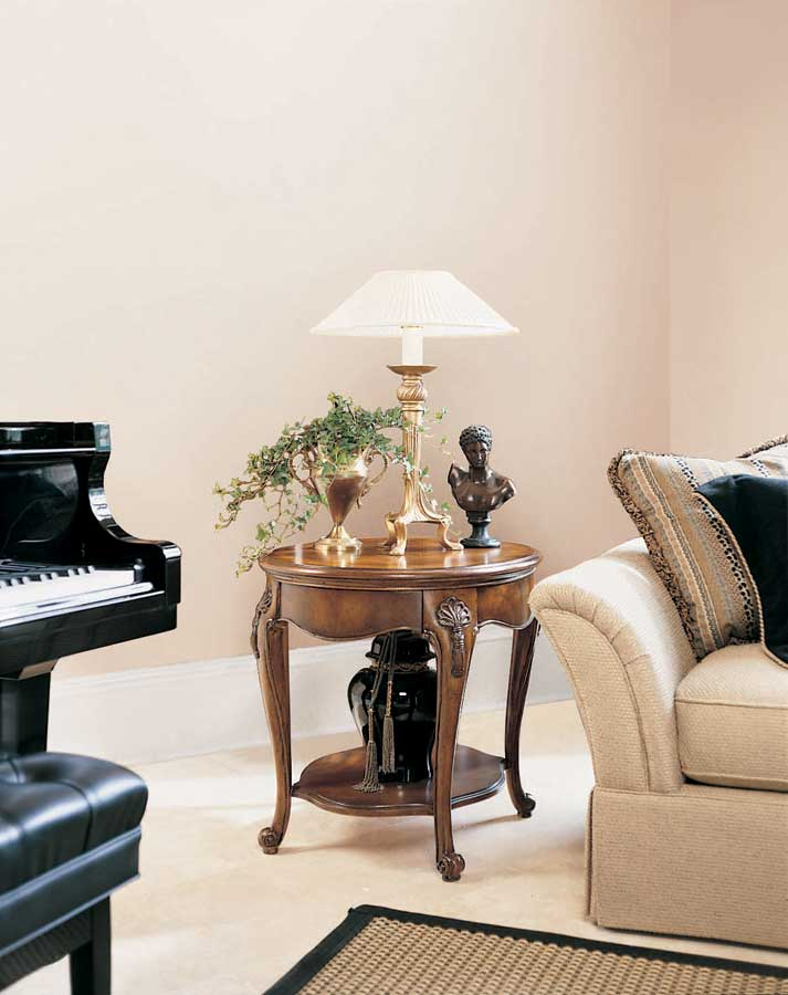 American drew bob mackie home classics oval end table 583 - Bob mackie discontinued bedroom furniture ...
