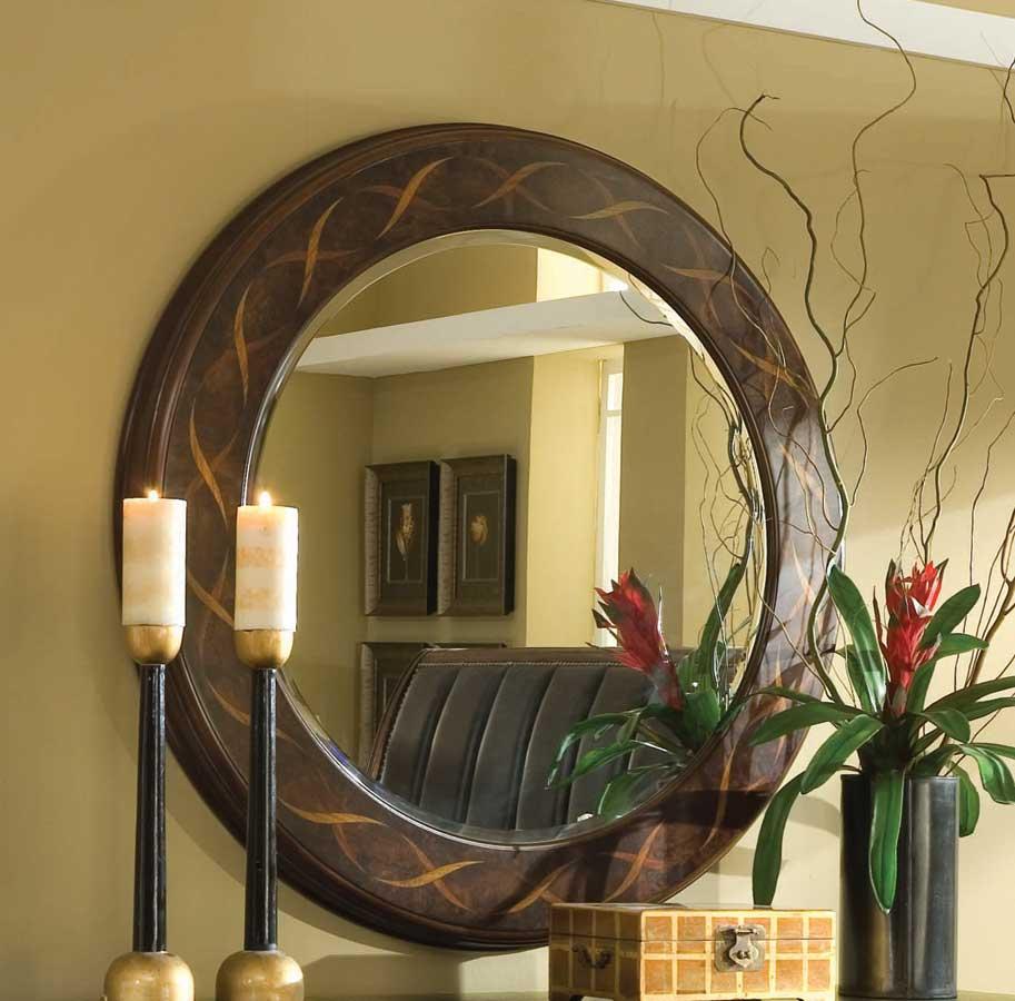 American Drew Bob Mackie Home-Signature Round Ribbon Mirror