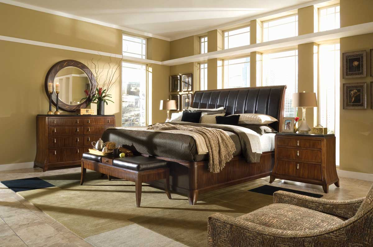 American Drew Bob Mackie Home Signature Sleigh Bedroom Collection