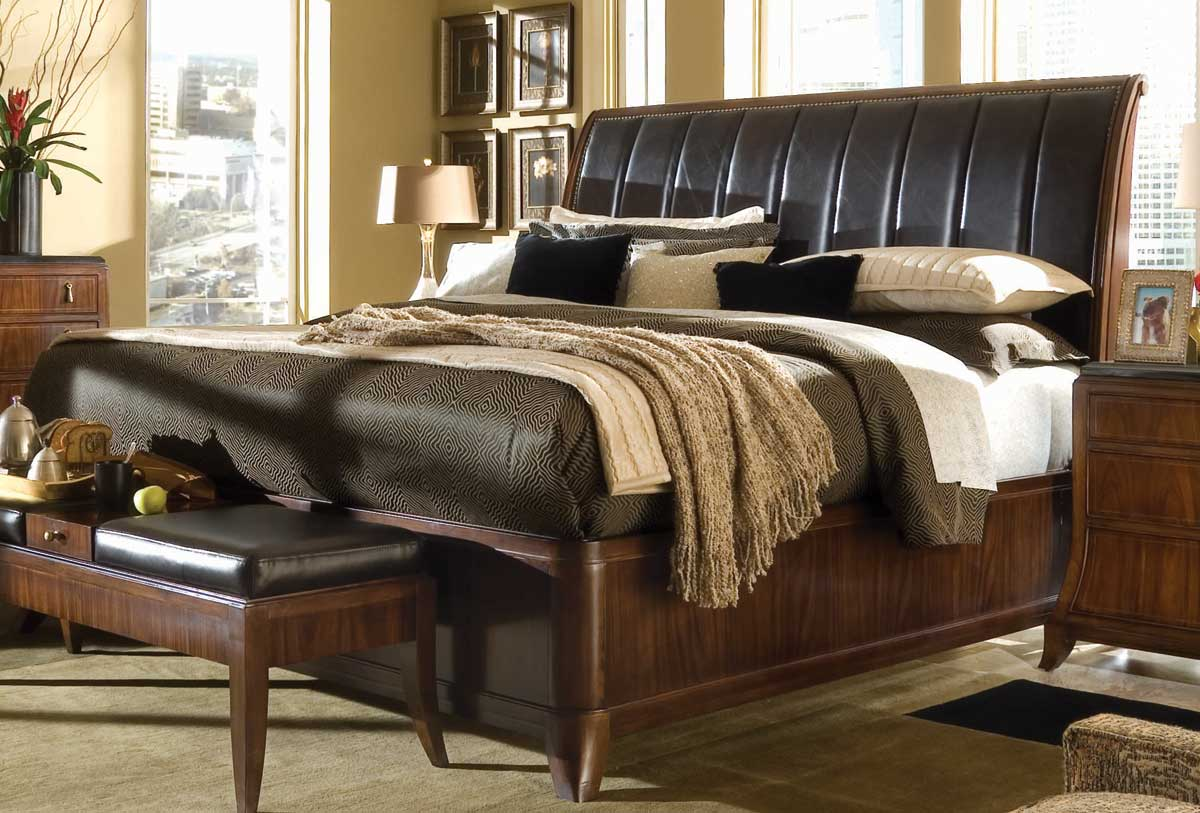 American Drew Bob Mackie Home Signature Sleigh Bed