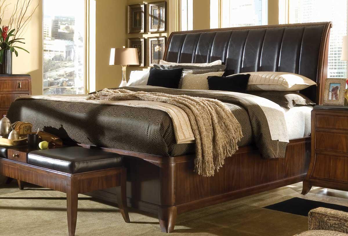 American Drew Bob Mackie Home Signature Sleigh Bed 591 304r