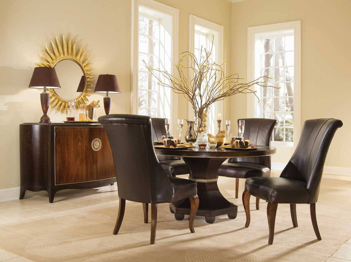 American Drew Bob Mackie Home-Signature Feather Round Dining Collection