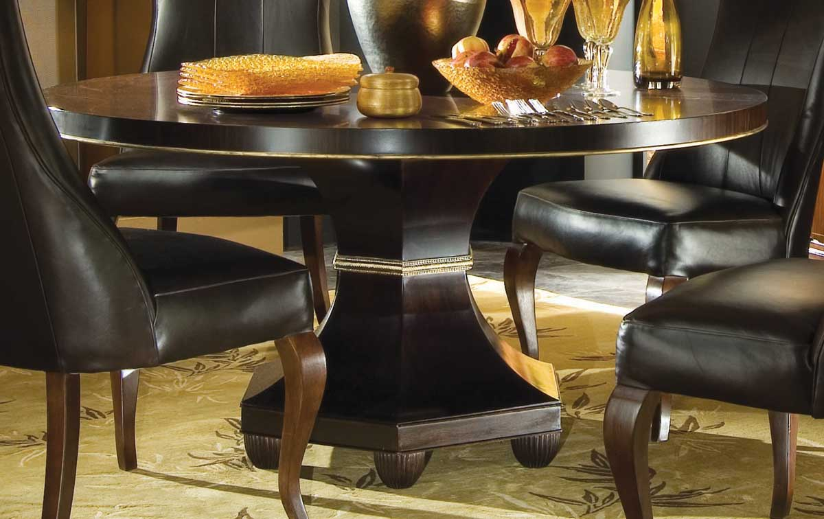 American Drew Bob Mackie Home Signature Round Ribbon Table 60 Inches 591 703r At Homelement Com