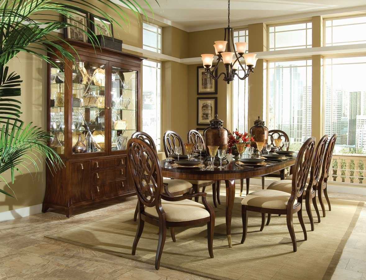 drew bob mackie home signature oval leg dining collection dining room