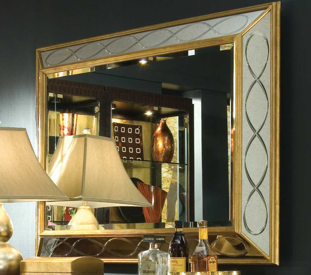 American Drew Bob Mackie Home Signature Rectangle Ribbon Mirror