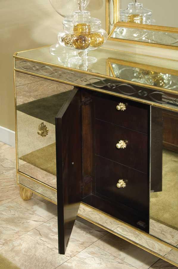 American Drew Bob Mackie Home Signature Glass Credenza 591 859