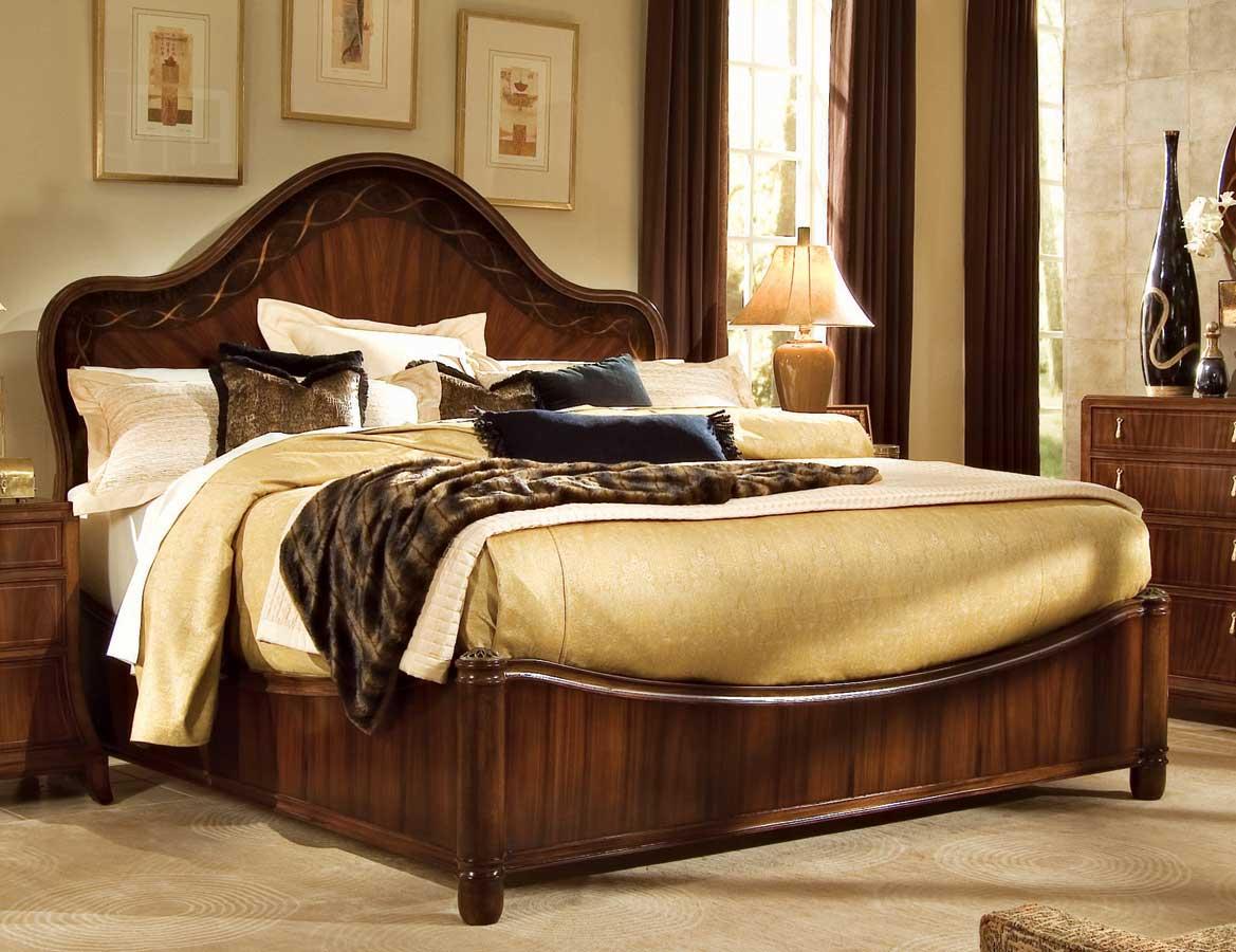 American Drew Bob Mackie Home-Signature Ribbon Panel Bed