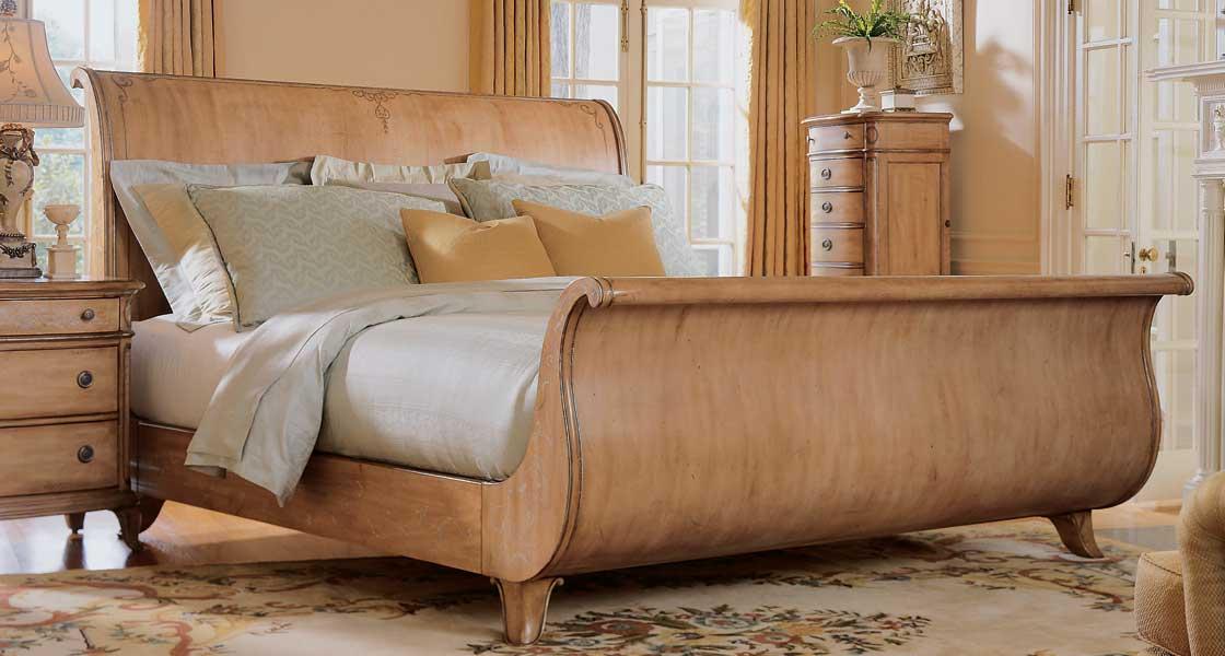American Drew Jessica McClintock-Home Sleigh Bed