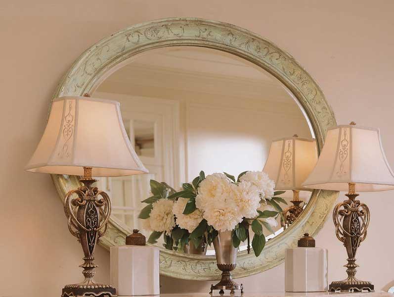 American Drew Jessica McClintock-Home Oval Mirror Pistachio Finish
