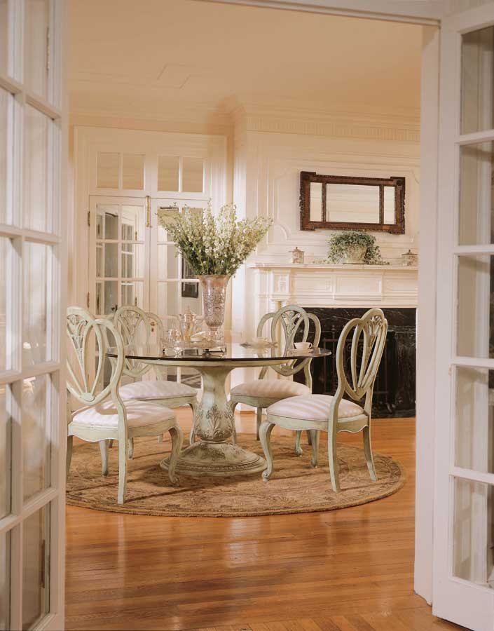 American Drew Jessica McClintock-Home Round Dining Collection - Pistachio