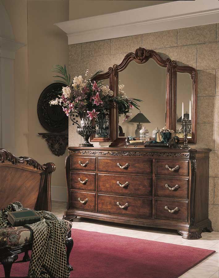 American Drew Bob Mackie Home Tri-View Mirror