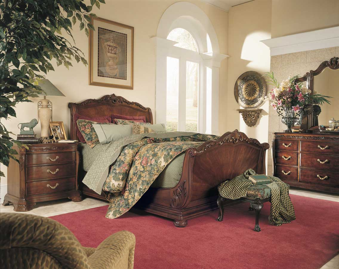 American Drew Bob Mackie Home Sleigh Bedroom Collection