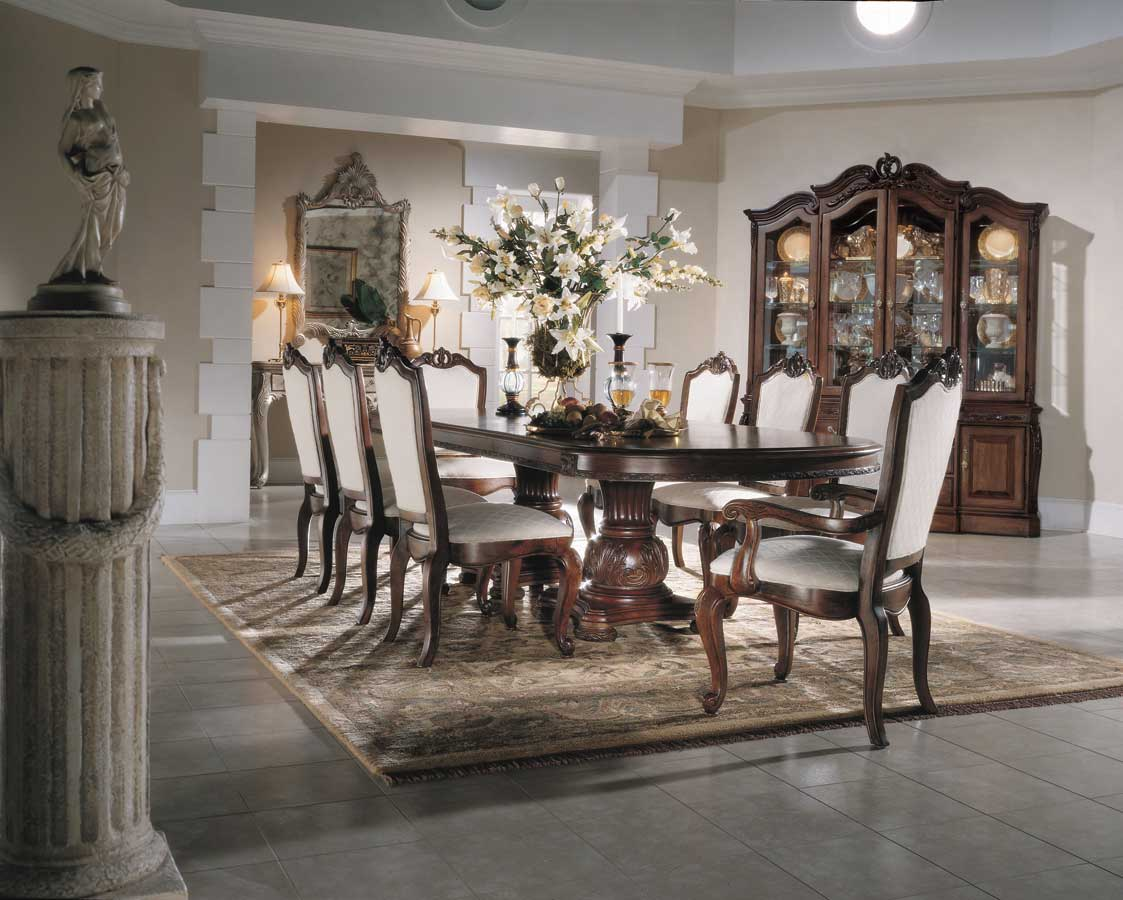 American Drew Bob Mackie Home Pedestal Dining Collection