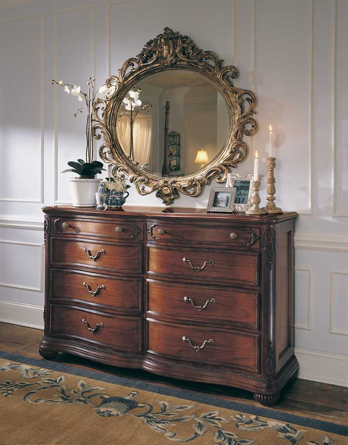 American Drew Jessica McClintock Home Romance Dressing Chest with Wood Top