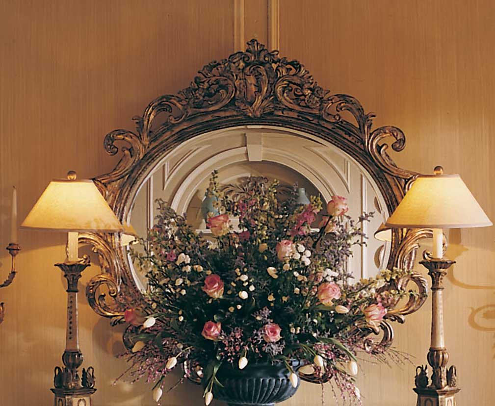 American Drew Jessica McClintock Home Romance Oval Mirror