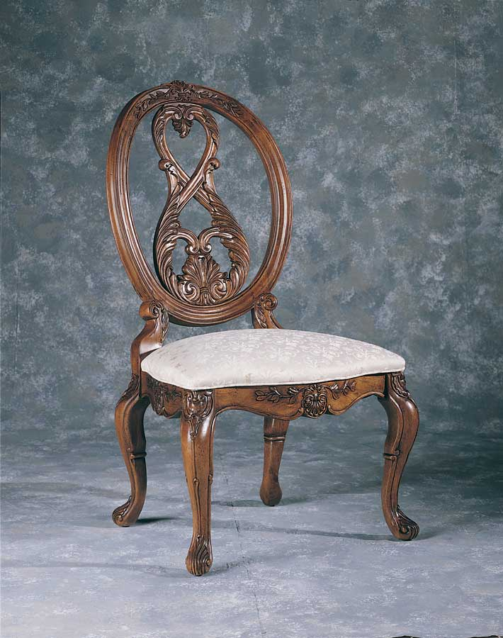 Oval Back Side Chair #30 - American Drew Jessica McClintock Home Romance Oval Back Side Chair