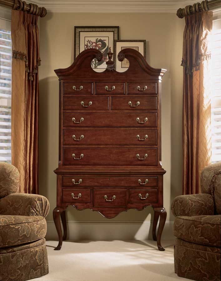 cherry highboy queen anne bedroom furniture