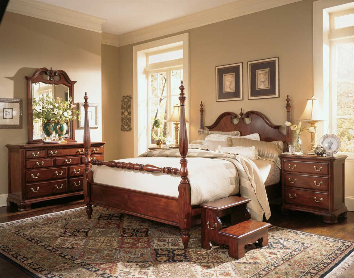 American Drew Cherry Grove Low Poster Bedroom Collection