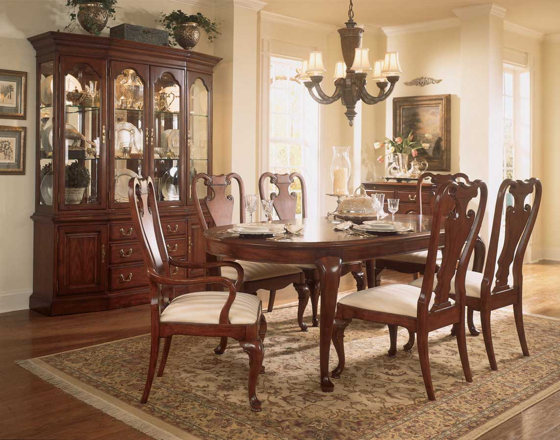 Cheap American Drew Cherry Grove Oval Leg Dining Collection