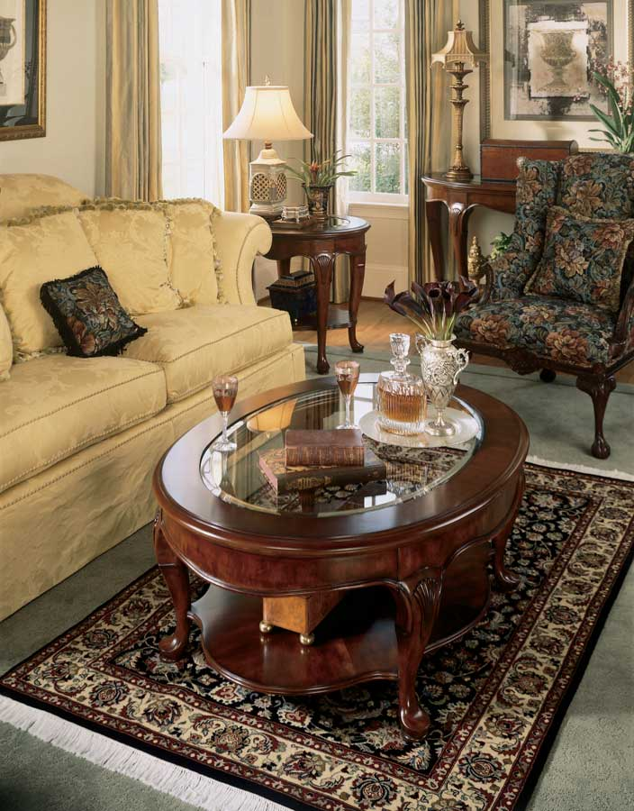 American Drew Cherry Grove Cocktail Coffee Table 793910 at