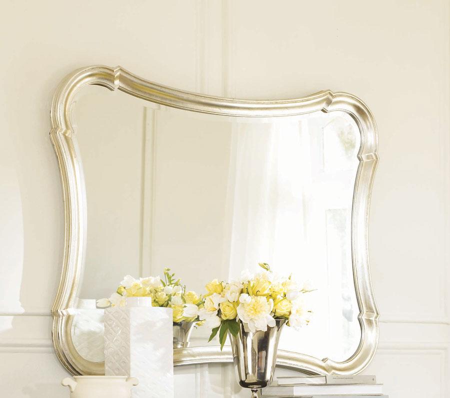 American Drew Sonata Silver Leaf Accent Mirror