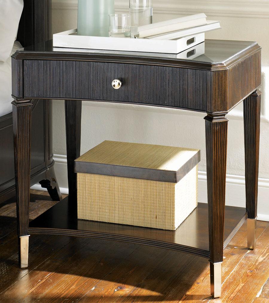 American Drew Sonata Open Leg Night Stand Wood Top