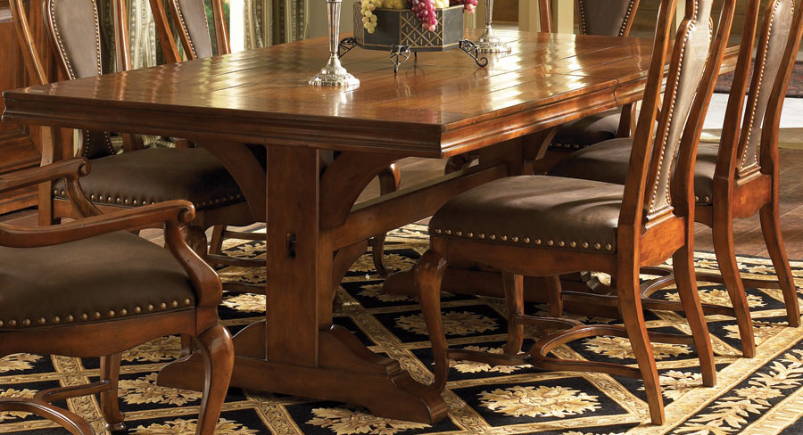 Cheap American Drew European Traditions Trestle Table