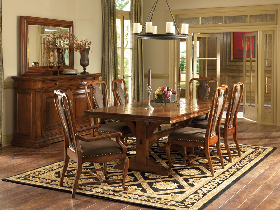 American Drew European Traditions Trestle Dining Collection