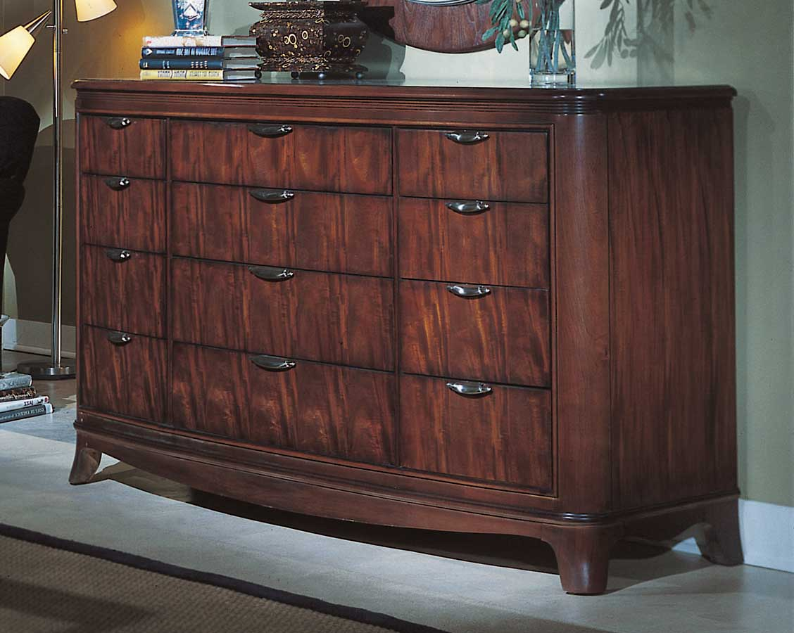 American Drew Advocate Drawer Dresser with Wood Top