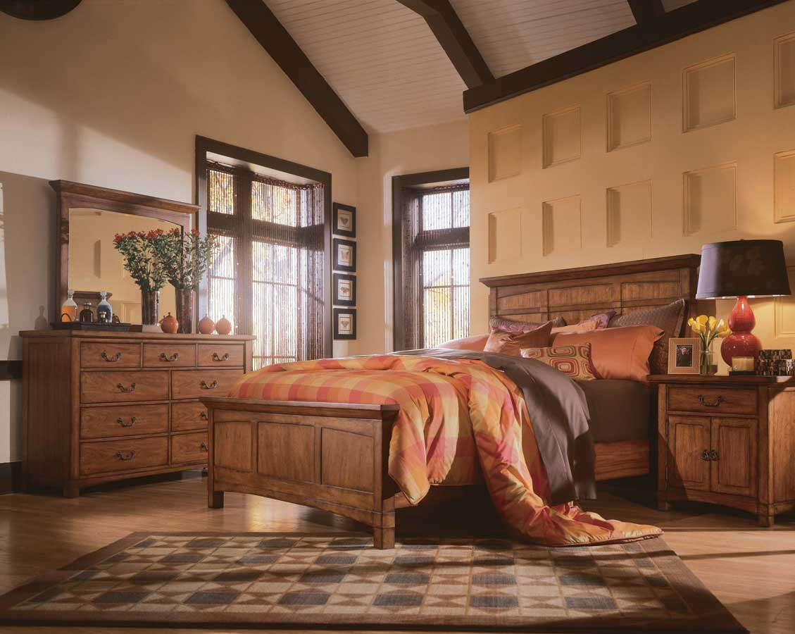 Http Www Furniturestage Com Bedroomfurniture Wood Panel Bed W Rustic Pecan Finish Optional Set Pieces