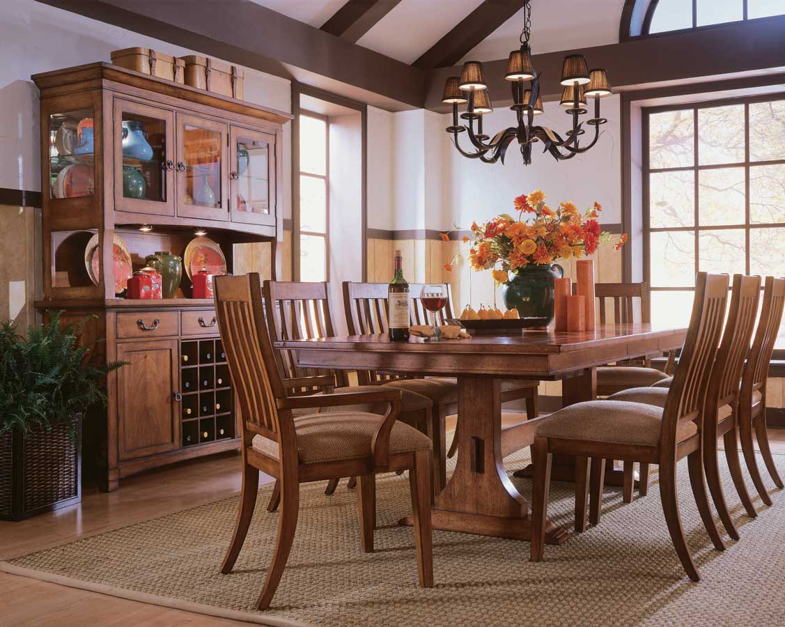 American Drew Beacon Ridge Trestle Dining Collection