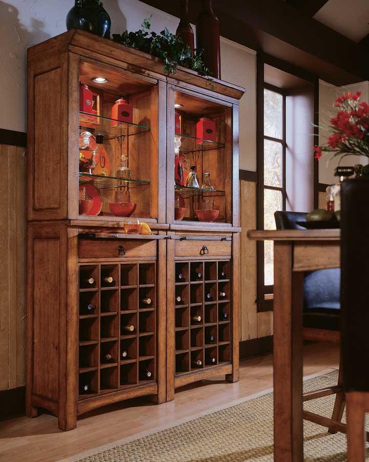 Cheap American Drew Beacon Ridge Wine Server with Hutch