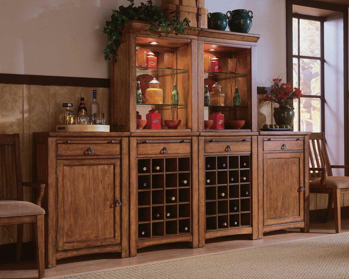 American Drew Beacon Ridge Wine Server With Hutch