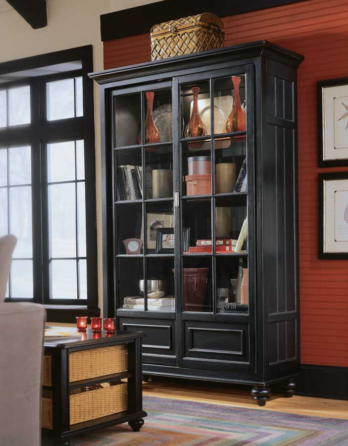 American Drew Camden Dark Bookcase China Cabinet