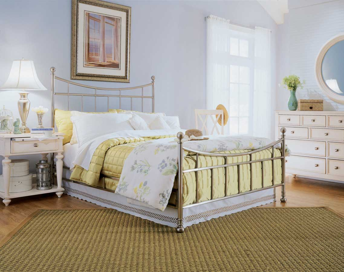American Drew Camden White Metal Bedroom Collection